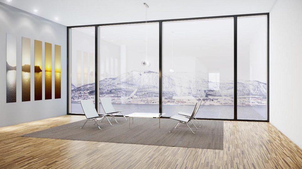3d visualisering av kontorbygg i Tromsø