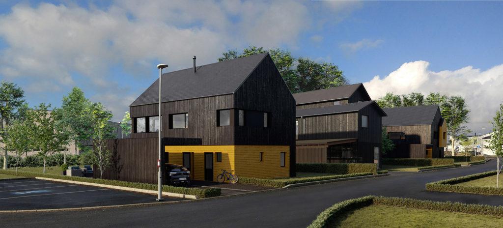 3d visualisering av Vindmøllhagen på Sandnes