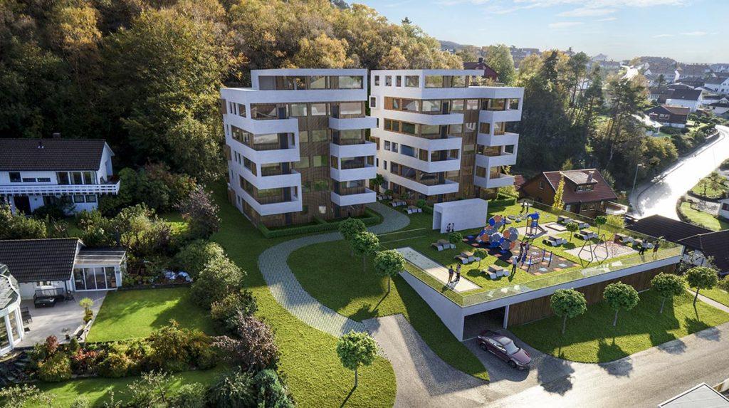3d visualiseringer av leilighetsbygg i Høgevollveien på Sandnes
